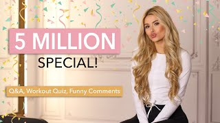 5 MILLION SPECIAL - Q&A, Workout Quiz & Funny Comments, Dennis prepared a video for us / Pamela Reif