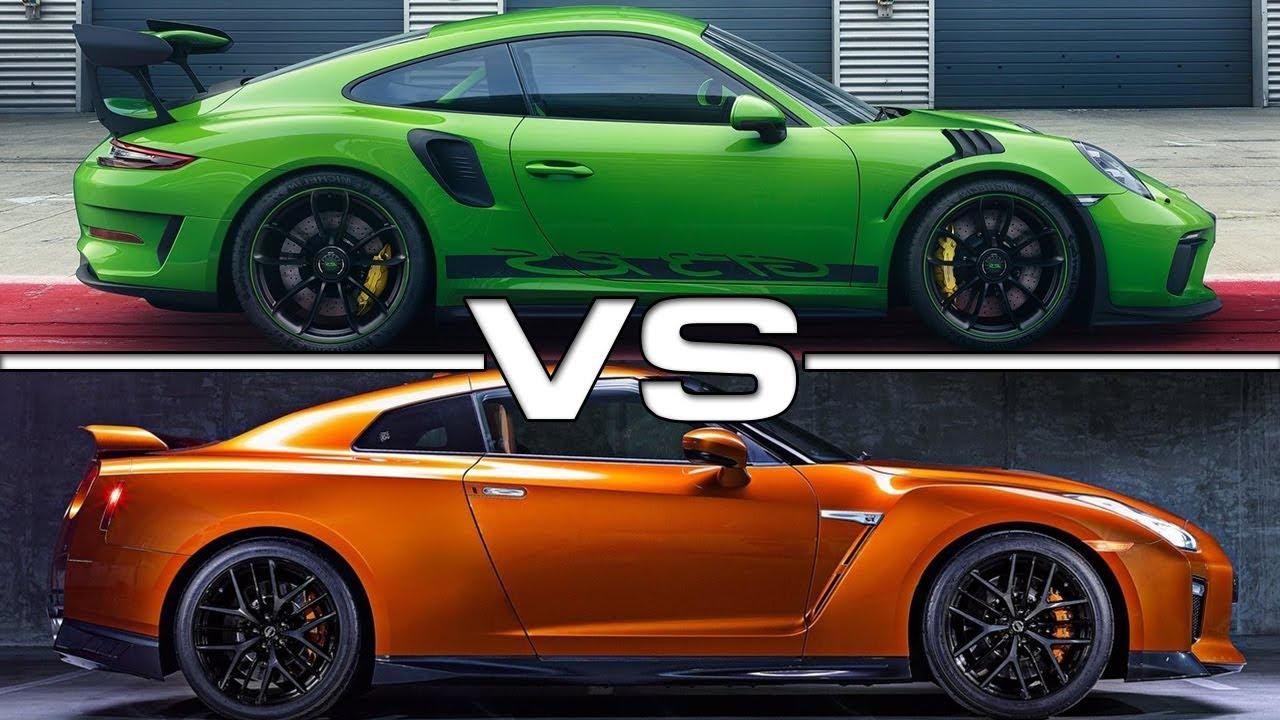 2019 Porsche 911 Gt3 Rs Vs 2018 Nissan Gt R Youtube