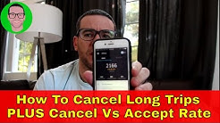 How To Cancel Long Uber Trips PLUS Acceptance vs Cancellation Rate | AskEzra #1
