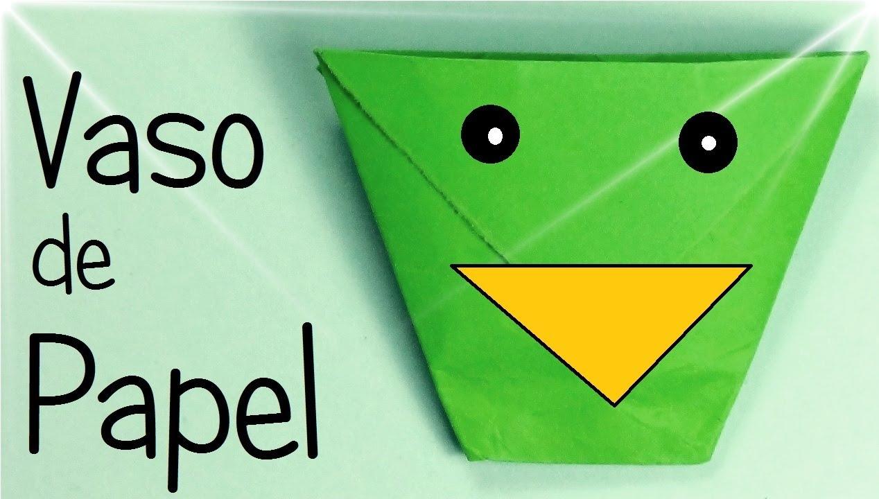 Vaso de papel papiroflexia youtube - Vaso con agua ...