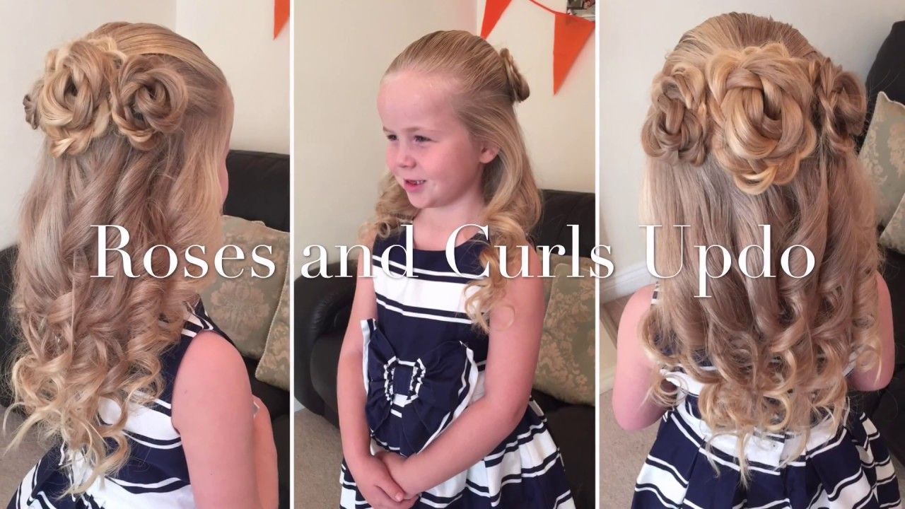 Hair Roses And Curls Updo Hairstyle By Two Little Girls Hairstyles