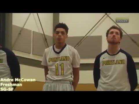 "Andre McCowan 6'6"" Freshman #11 for Portland Community College"