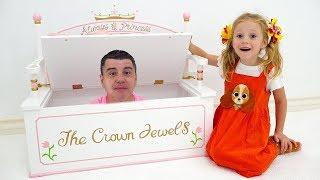 Nastya와 아빠는 공주를위한 핑크색 방을 장식합니다