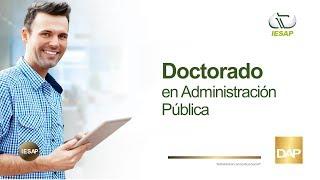 Inscribite al doctorado en Administración Pública
