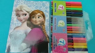 How To Colour using felt tips Elsa Princess of Arendelle from Disney