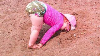 Cute Baby At The Beach - Funny Fails 2020