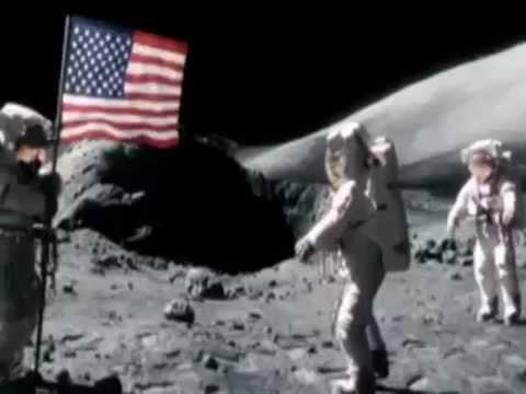 Never before seen moon landing video.  |Moon Landing Funny