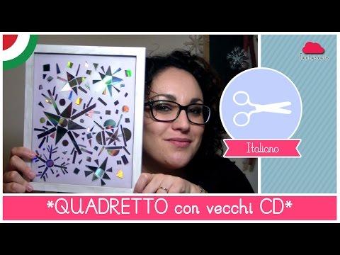 Natale fai da te: Quadretto con FIOCCHI DI NEVE riciclando vecchi CD e DVD (Riciclo Creativo)