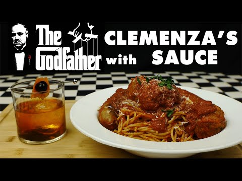 THE GODFATHER (1972) Godfather Cocktail With Clemenza's Sauce [Spaghetti \u0026 Meatballs]