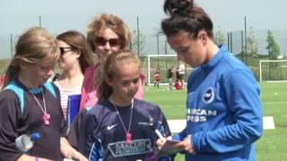 Women in sport week - sussex fa girls' football festival