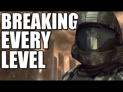Breaking out of EVERY Halo 3 ODST Campaign Level (Halo Outside the Map)