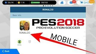 PES Mobile 2018 | Ronaldo, special Maradona , special David Beckham | Secret legends part 2