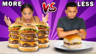 MORE VS LESS FOOD CHALLENGE!