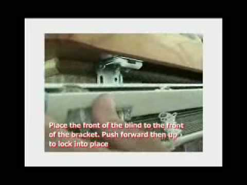 Installing A Venetian Blind Into Brackets Youtube