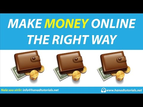 Make Money Online The Right Way - Somali
