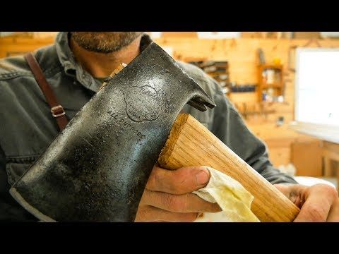 Carving A New Hatchet Handle - Hand Tools Only