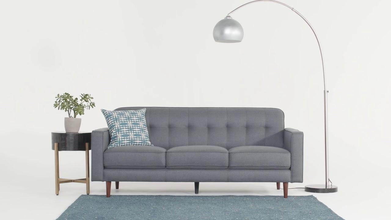 London Dark Grey Sofa | Living Spaces