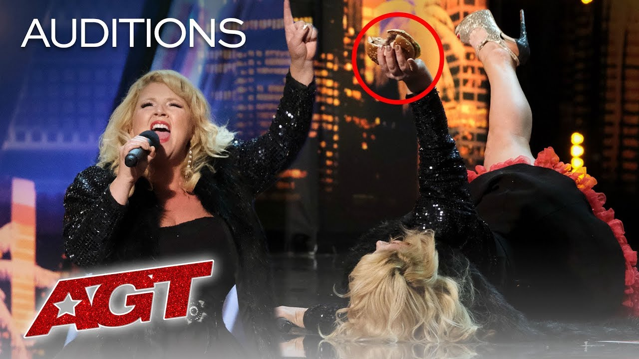 Comedian Pulls Out Burger And Fries From Bra, Feeds The Judges - America's Got Talent 2019