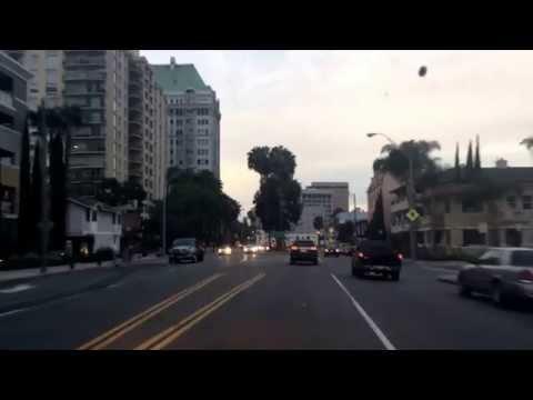 Driving in Long Beach, California.