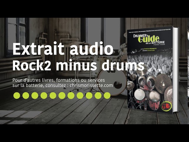 Extrait audio Rock2 minus drums - Drummer's Guide de la batterie