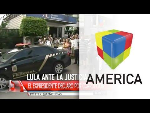 Conmoción política en Brasil: llevaron a declarar al ex presidente Lula