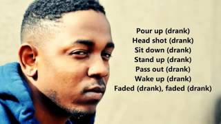kendrick lamar swimming pools lyrics on screen hd