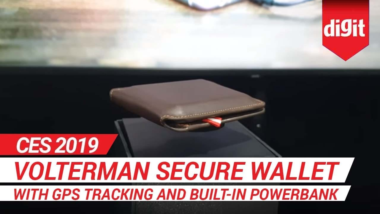 nuovo di zecca 3178f 50416 CES 2019: Volterman Secure Wallet with GPS Tracking and built-in Powerbank  | Digit.in