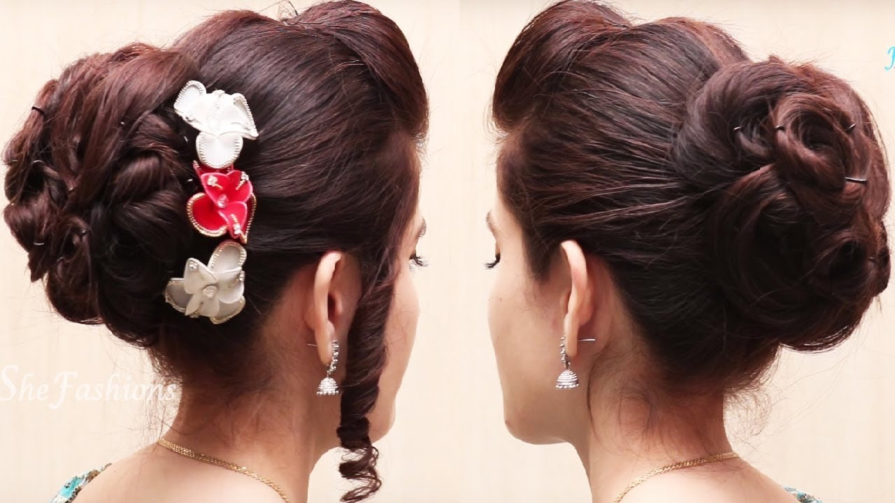 bridal hairstyles for long hair tutorial // easy updos hairstyle
