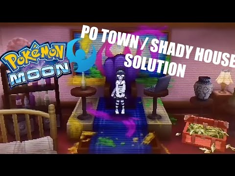 Pokemon Sun and Moon - How To Solve the Shady House in Po Town + Extra's
