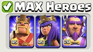 PERFECT MAXED HEROES!  TH11 Farm to Max | Clash of Clans