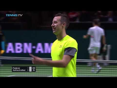 CRAZY: Brilliant Roger Federer vs Philipp Kohlscreiber point! | Rotterdam 2018