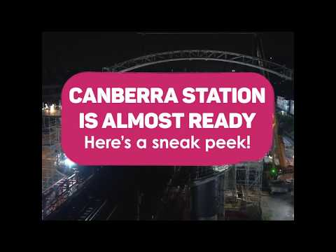 A Sneak Preview Of Canberra MRT Station