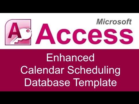 Microsoft Access Enhanced Calendar Scheduling Database Template