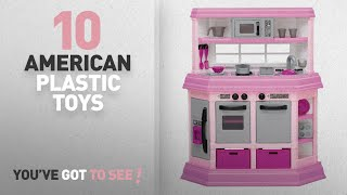 top 10 american plastic toys  american plastic toy deluxe custom kitchen buy american plastic toys cookin u0027 kitchen with 22 accessories only      rh   trendingtoday pw