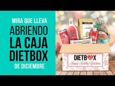 Abriendo la caja de DietBox de Navidad