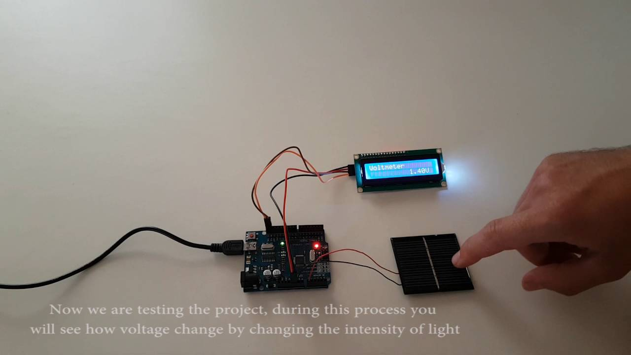 Arduino Voltage Measurement Using Solar Panel Youtube