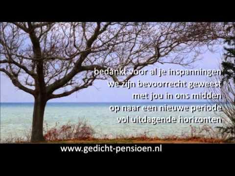Genoeg Pensioen bedankt gedicht voor mooi dankwoord - YouTube @MG47