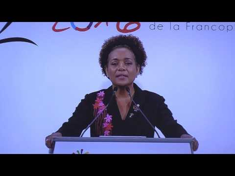 Réveil-FM: Discours de Michaëlle Jean, la Secrétaire Général de l'OIF au XVIè Sommet de la franco...