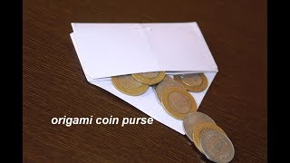 DIY - Origami Paper Folding Coin Purse - super easy