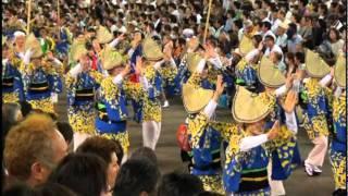 2011年 幸福の科学連の阿波踊り!ゲストはスピリチュアルアイドルの疋田...