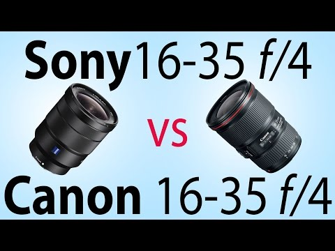 Sony 16-35mm f/4 review (vs Canon)