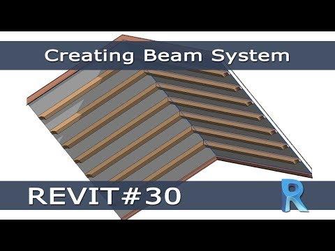 REVIT #30 -  Disegnare un Sistema di Travi (Creating Beam System)