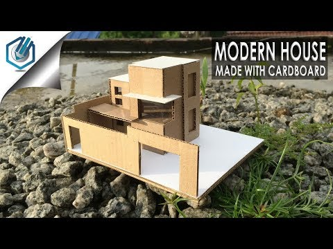 How to make Cardboard modern House easy -with dimensions-