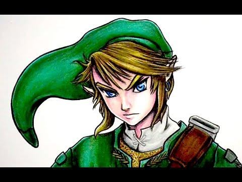 Como Dibujar A Link De Zelda Youtube