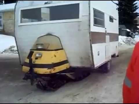 A Canadian Skidoo Camper