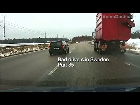 Bad Drivers in Sweden #85 Crazy overtaking and insurance scam!