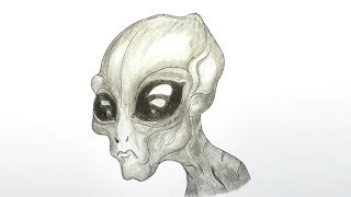How to Draw Alien step by step |very easy| Alien Drawing