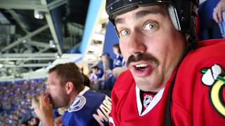 Big Cat Takes On Tampa Bay For Game 2 Of The Stanley Cup (2015)