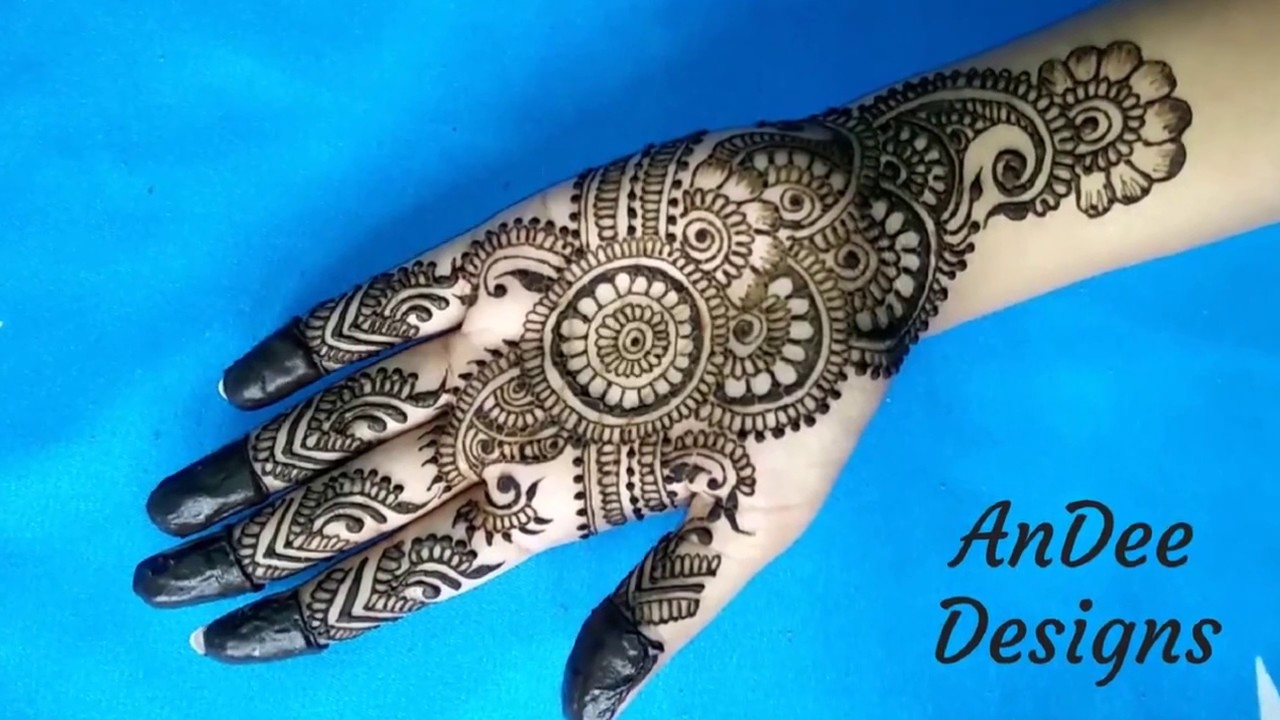 Easy Simple Beautiful Circular Mehndi Designs For Hands