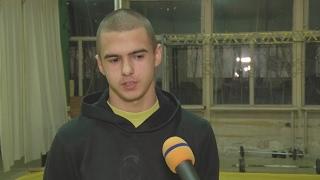 """Петър Петров - млад борец от СК """"Борба"""" гр. Шумен"""